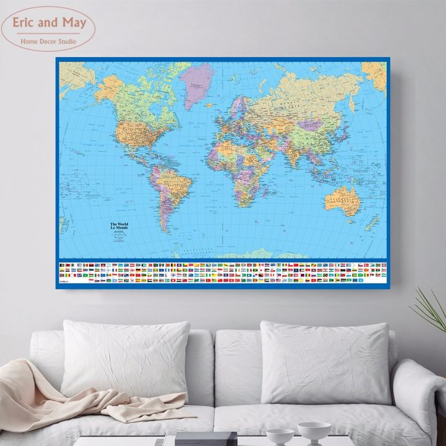 Online shop hd real world map vintage posters and prints large hd real world map vintage posters and prints large canvas print painting home decoration modern wall art picture gumiabroncs Gallery