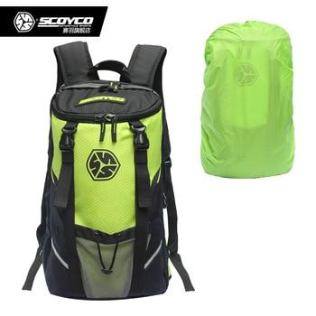 Motorcycle Backpack Motor Bag Waterproof Shoulders Reflective Helmet Bag Motorcycle Racing Bag