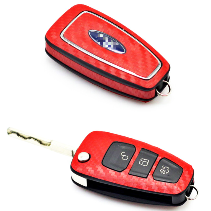 Aliauto Remote Key Chain Protective Cover Sticker Carbon Fibre Key Sticker And Decal Accessories For Ford Focus 2012