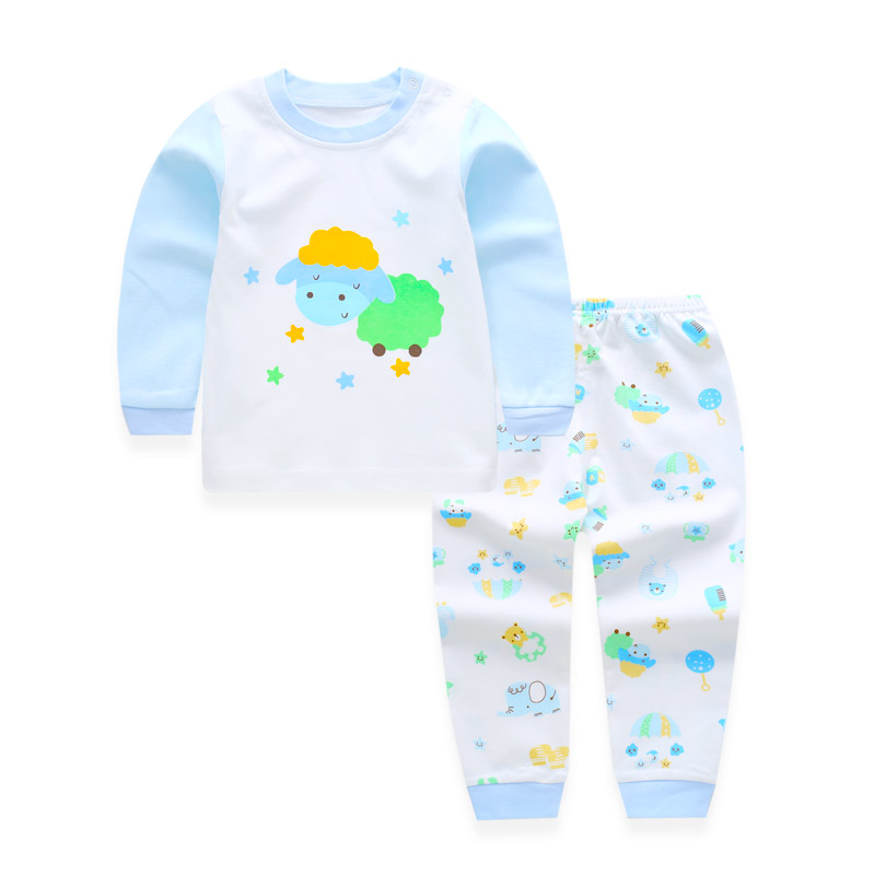 Spring Infant Baby Clothes Pajamas Set Kids Girls Long Sleeve Cotton Baby Sets Clothing Newborn Suits Children Boys Pajamas Suit newborn infant baby girls boys spring short sleeves cotton clothes suit 2 pcs baby unisex cartoon casual strapped clothing set