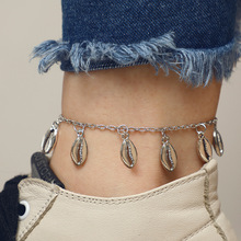 Boho Beach Pendants Shell Anklet Silver Bracelet For Women Fashion Charms Ankle Chain Anklets Female