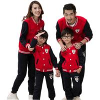 Autumn Winter Family Set Clothes For Father Mother And Daughter Son Baseball Uniform Family Look Matching Outfits Cotton Causal