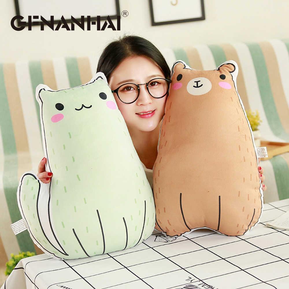 1 шт. 40 см ins плюшевые игрушки мягкие kawaii Панда Кролик полярный медведь кошка курица плюшевые подушки для детей подарок на день рождения