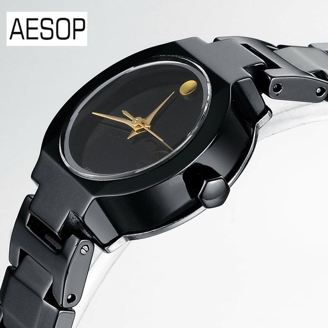 AESOP Black Ceramics Watch Quartz analog Luxurious Watch with Packaging Box Hot Selling 1pcs/lot  9917