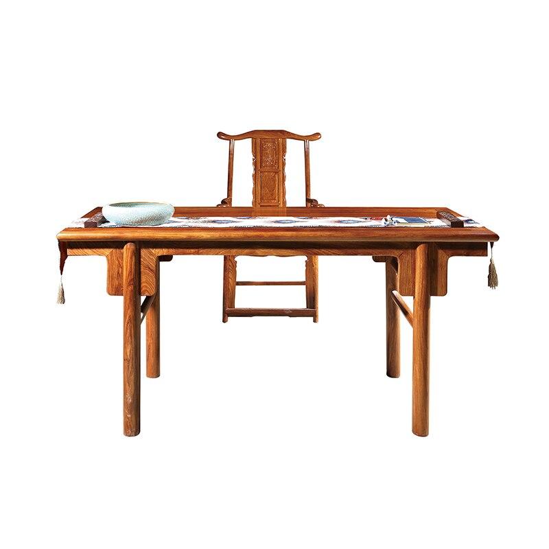 Mobiliário antigo Em Madeira China Móveis de Jacarandá Com Dinastia Ming Estilo Ouriço Sólida Mesa De Madeira E Cadeira Para Mesa de Desenho