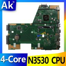 AK N3530 4-Core Процессор X551MA материнская плата для ноутбука ASUS X551MA X551M X551 F551MA D550M Тесты Оригинал материнская плата