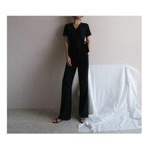 Прямые брюки с высокой талией летние широкие брюки рабочая одежда, штаны женские черные офисные женские элегантные штаны на молнии