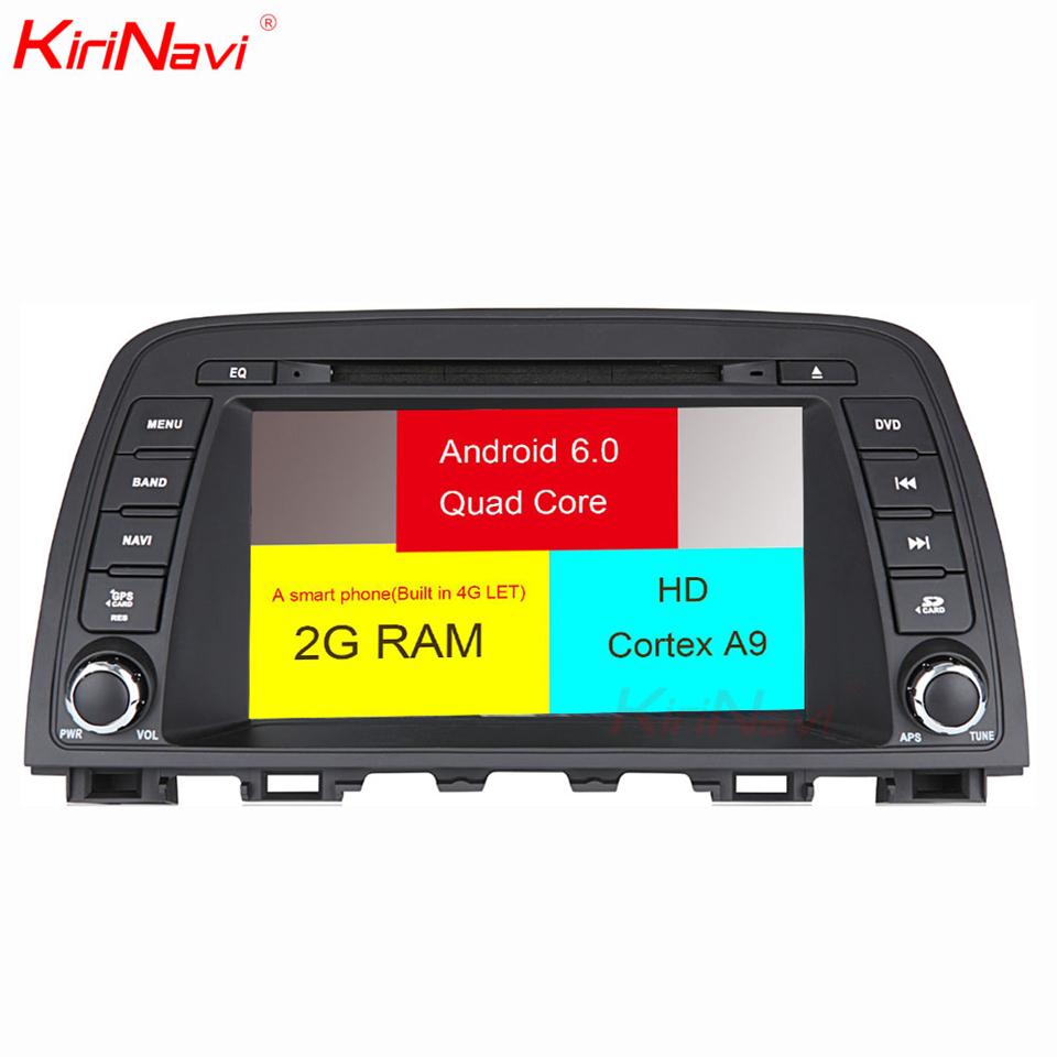 KiriNavi Octa core 4G LET android 7 double din car dvd player for Mazda CX 5 multimedia 2014 2017 support 4K Video 4G