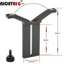 NICEYRIG عدسات تركيز قوس DSLR كاميرا تزوير 15 ملليمتر قضيب نظام السكك الحديدية لين دعم الكتف تزوير Y حامل 15 ملليمتر قضيب المشبك اكسسوارات