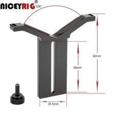 NICEYRIG Fokus Objektiv Halterung DSLR Kamera Rig 15mm Rod System Schiene Len Unterstützung Schulter Rig Y Stand 15mm rod Clamp Zubehör