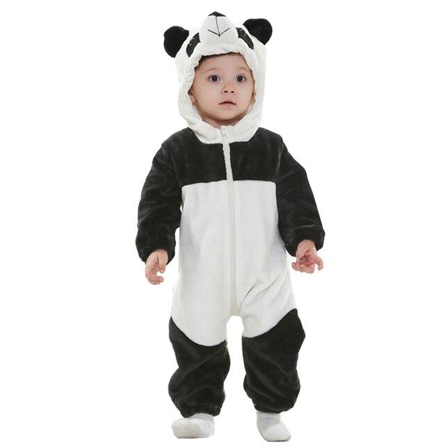 6248ef398c9d20 R$ 107.48 |DOUBCHOW Infantil Da Criança Do Bebê Meninas Meninos Animal  Bonito Panda Snowsuit Recém Nascido a 2 Anos de Idade Babys Macacão Traje  ...