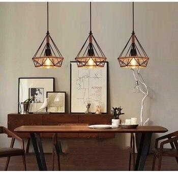 Vintage led Pendant Light E27 Lamp AC110-260V Retro American Style Pendant Lamp Home Decor Bedroom lights Aisle lights