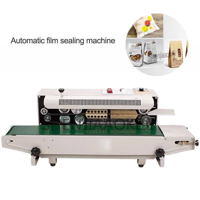 1PC FR-880 Continuous Automatic Film Sealing Machine Aluminum Foil Bag Edge Sealer Food Packaging Machine 220V