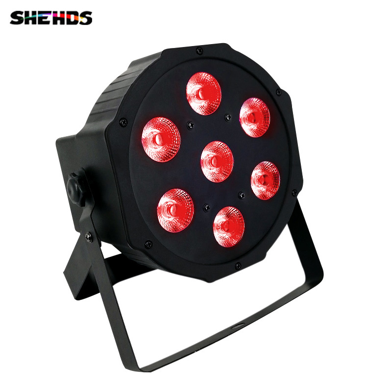 Free&Fast shipping hot new flat led par 7x12w rgbw quad stage wash light DMX512 Controller DJ Equipment Disco Night Club Show стоимость