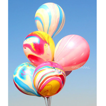 10pcs Pink Marble Latex Balloons Wedding Decoration Valentines Day Happy Birthday Party Kids Supplies Globos