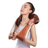 Home Car Electrical Body Massager Relaxation Massage U Shape Neck Back Shoulder Shiatsu Infrared 6 keys 3D Kneading Massager