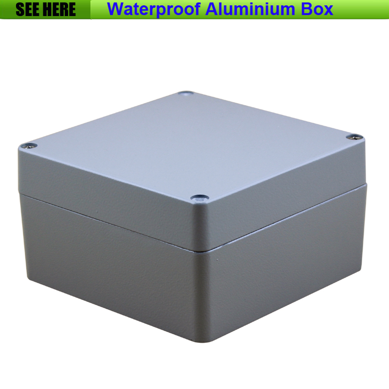 Free Shipping Small SIze Waterproof Box IP67 Aluminium Waterproof aluminium electric box 160*160*90mm free shipping 1piece lot top quality 100% aluminium material waterproof ip67 standard aluminium box case 64 58 35mm