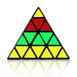 Mofangge 4x4x4 piramida kostka czarny/Stickerless magiczna kostka KiloPyramid kostka 4x4 Puzzle piramida kostka specjalne zabawki dla dzieci