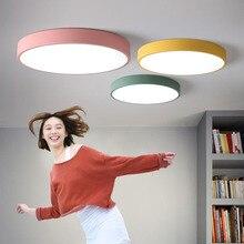 led Ceiling light Living room rectangular ceiling lamp macarons ultra-thin bedroom lighting restaurant lights