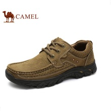 CAMEL Camel men's casual shoes handmade new style leather nubuck leather lace-up men's casual shoes