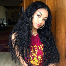 250% Density 7A Full Lace Human Hair Wigs For Black Women Deep Curly Glueless Full Lace Wigs Human Hair Lace Front Wigs 12-24