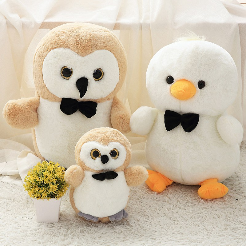 Stuffed & Plush Animals Toys & Hobbies Dashing 1pc 25/35/45cm 8 Patterns Cute Owl Bunny Chick Dolls Small Plush Stuffed Toys Activity Sprinkle Gifts Fine Workmanship Wholesale Products Hot Sale