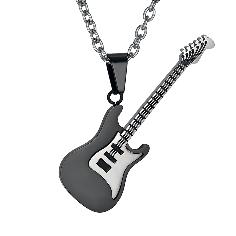 Guitar Necklace & Pendant Stainless Steel Music Jewelry DSC_5950