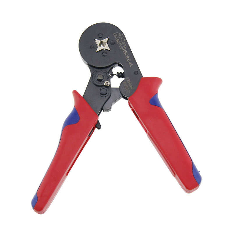 NEW HSC8 6-4A End-sleeves Crimping Plier Self Adjusting Ratcheting Ferrule Crimper  --M25 new portable self adjusting crimping plier wire cable end sleeves ferrules cutters cutting pliers multi hand tools