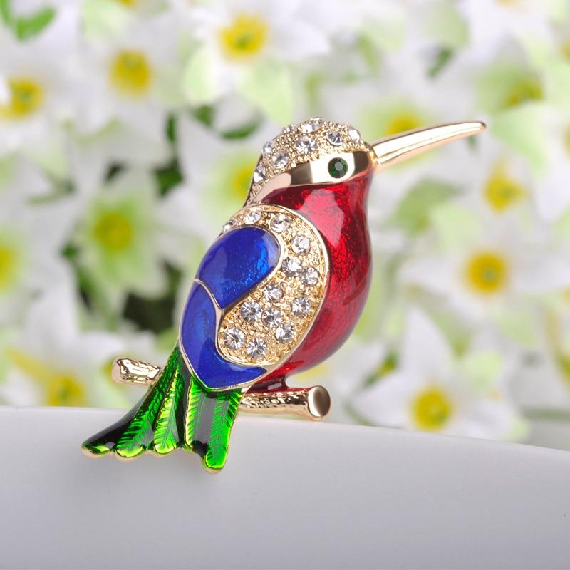 Perfect Birds Pin Brooches Collares Esmalte Enamel Broaches Fashion Women Gold Broches Accessories Luxury Rhinestone Broch Pins