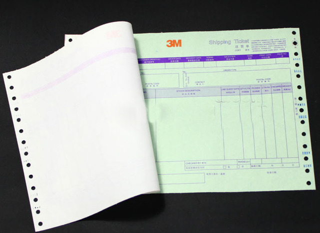 Custom carbonless printed paper receipt invoice books print-in - printed invoices