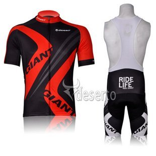 GIANT RED black 2012 Cycling Jersey + Bib Short Set Cycle Wear Bike clothes Bicycle Short Wear