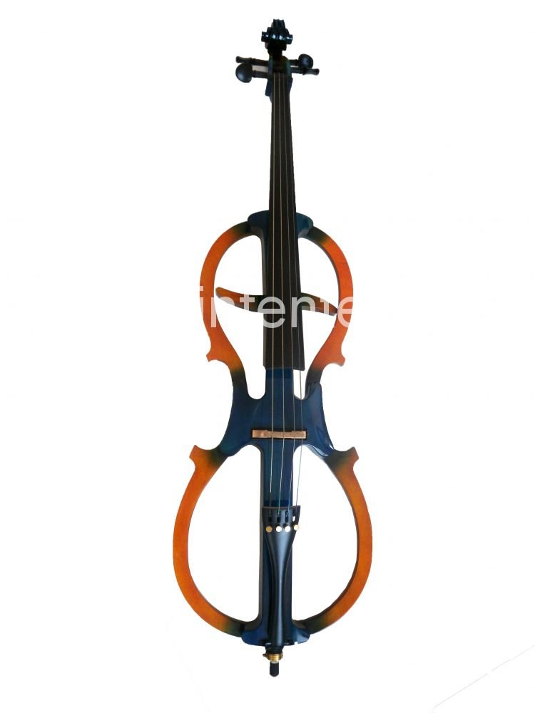 1x Cello  New  Electric cello Powerful Sound White Blue Black Yellow solid wood Ebony parts #15 new 4 4 electric cello powerful sound ebony parts end pin tailpiece peg 1468