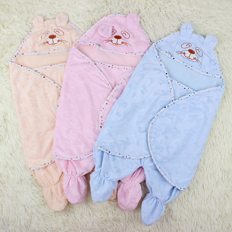 Baby spring and summer autumn thickening was parisarc baby blankets newborn sleeping bag dual