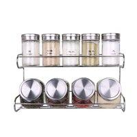 Houmaid kitchen accessories storage coffee/tea/food jars,glass seasoning/spice/chili/pepper/sugar/salt bbq jars set with holder