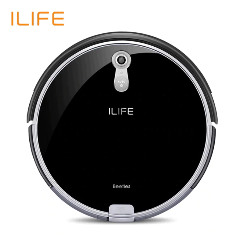 NEW Robotic Vacuum Cleaner ILife A8 For home with Camera Navigation Smart Robot Vacuum Cleaners Piano Black Color