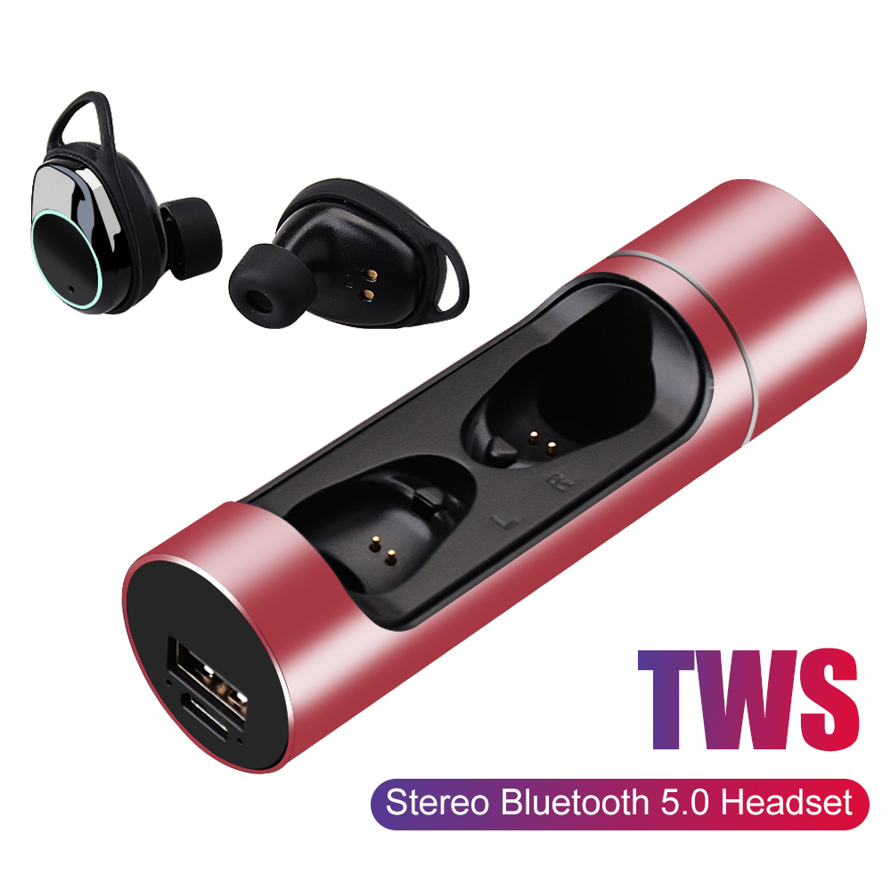 468df32b842 TWS X8 Wireless Earphone Bluetooth 5.0 Touch Control Waterproof Sport  Swimming Stereo Sounds Head phones With Mic For IPhone 8
