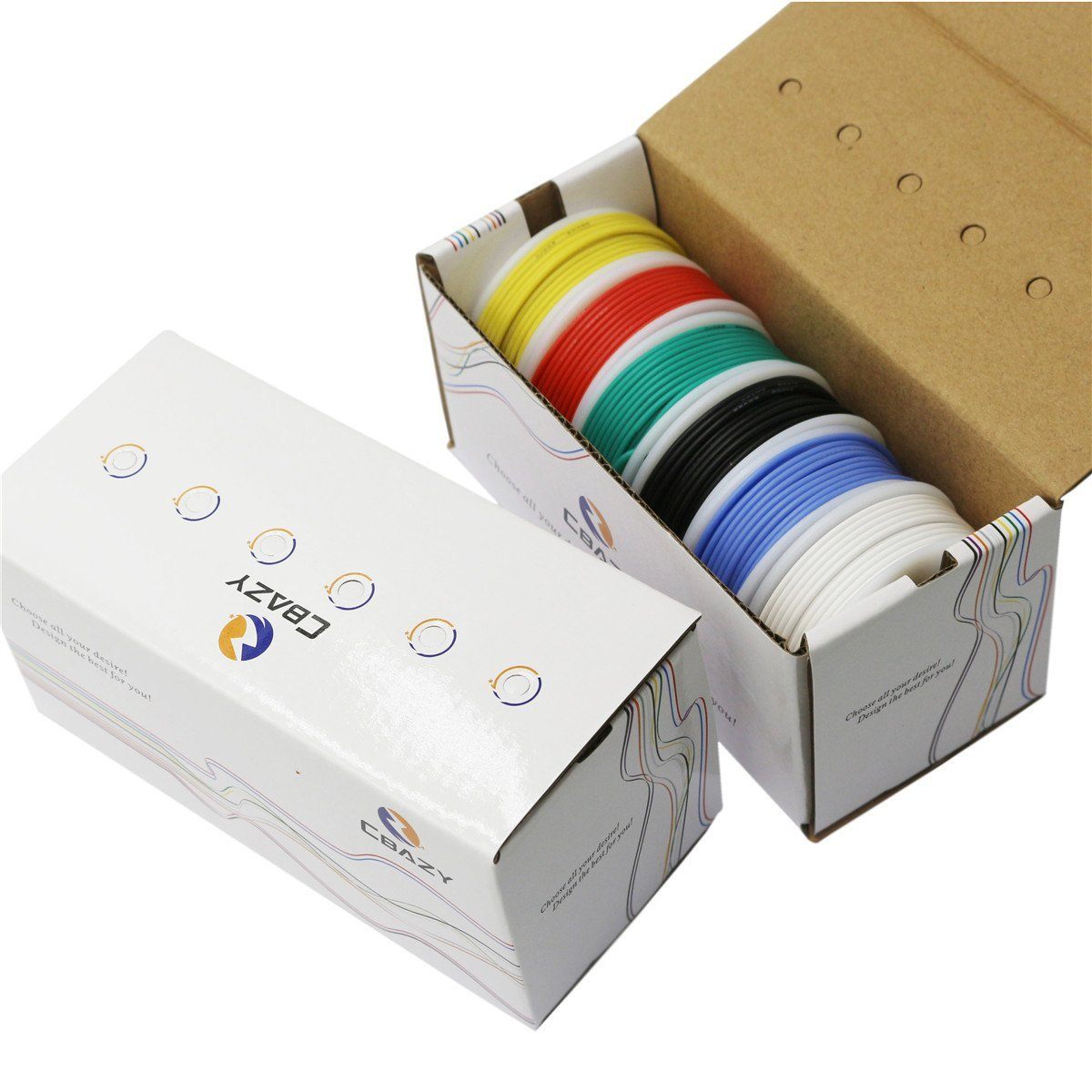 CBAZY Haken up Draht Kit (Litze Kit) 18 Gauge Flexible Silikon gummi ...