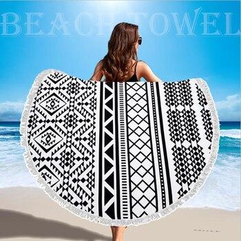 SDARISB Microfiber Fabric Bath Towel Round Beach Towel Wholesalers Large Towel Wholesalers Watermelon Lemon Vacation Products 5