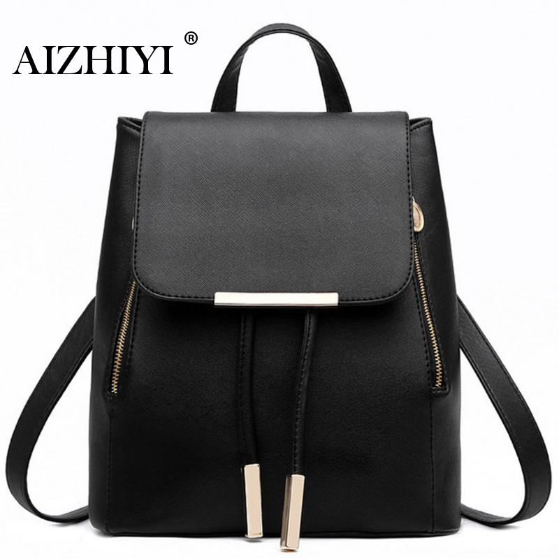 Women Backpacks Solid Fashion Causal School Bag For Teenage Girls Quality PU Leather Vintage Waterproof Backpack Travel Bags jmd vintage women backpack for teenage girls school bags fashion large backpacks high quality genuine leather travel laptop bag