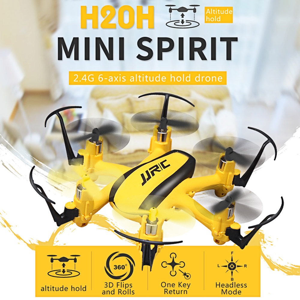 Mini 6 Channel 6-Axis Gyro 2.4GHz Altitude Hold RC Drone Quadcopter Helicopter Y