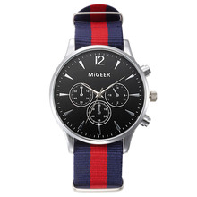 2016 Hot Luxury Fashion Canvas Roles Relogio Masculino Erkek Kol Saati BraceletsRing Mens Analog Watch Wrist Watches