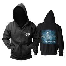 9 designs zipper Sweatshirt Gojira Cotton Rock Hoodies brand shell jacket Punk metal streetwear sudadera illustration mural