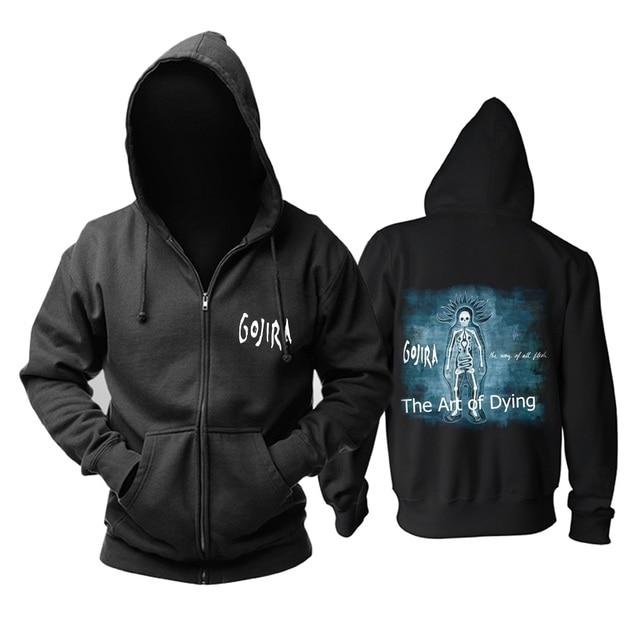 9 projetos zíper moletom gojira algodão rock hoodies marca escudo jaqueta punk metal streetwear sudadera ilustração mural