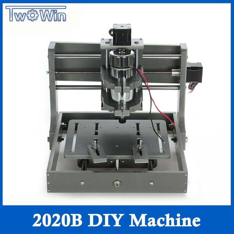 DIY CNC Wood Carving Mini Engraving Machine PVC Mill Engraver Support MACH3 System PCB Milling Machine CNC 2020B
