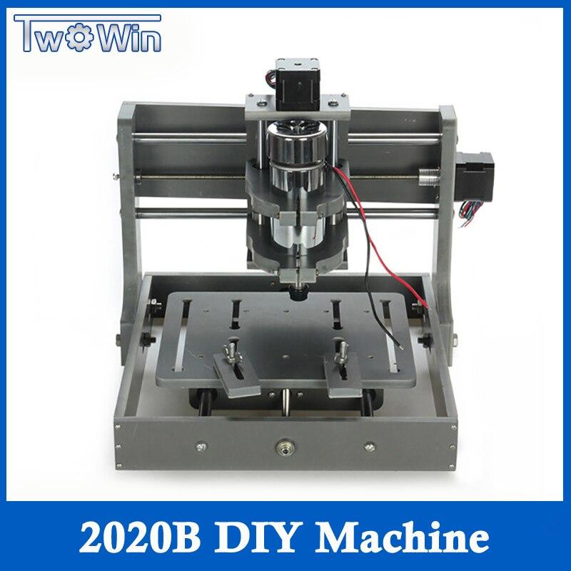 Bricolage CNC sculpture sur bois Mini Machine de gravure PVC moulin graveur Support MACH3 système PCB fraiseuse CNC 2020B