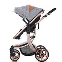 Новый Дизайн Высокая Пейзаж Роскошные Детские коляски 6 цветов четыре колеса детские сиденья и лечь детские коляски