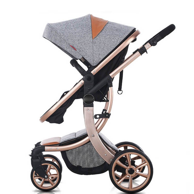 New Design High Landscape Luxury Baby Stroller 6 Colour Four Wheels Baby Seat And Lie Down Baby Carriage new luxury baby stroller high landscape three dimensional four round baby stroller