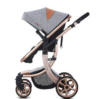 New Design High Landscape Luxury Baby Stroller 6 Colour Four Wheels Baby Seat And Lie Down Baby Carriage