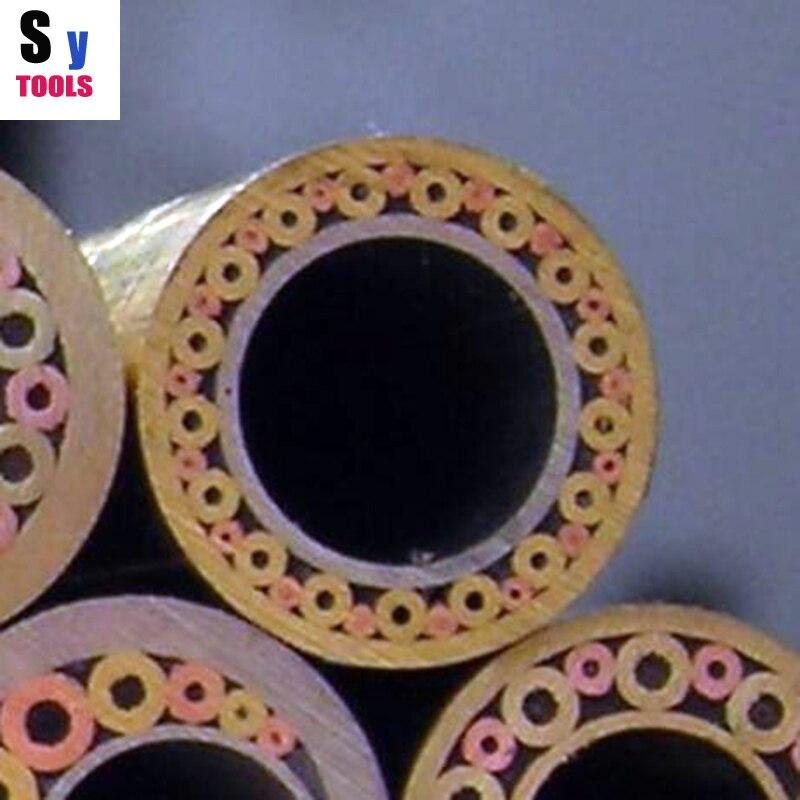 10mm/0.39 pulgadas diámetro incrustaciones mosaico Pasadores Remaches 5 cm clavo tubo de latón DIY cuchillo tornillo de mango más mosaicos de diseño exquisito estilo