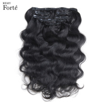 Remy Forte 24 Inch Clip In Human Hair Extensions Body Wave Hair Extension Natural Color Human Hair Clip In Extensions 7 Pcs Clip